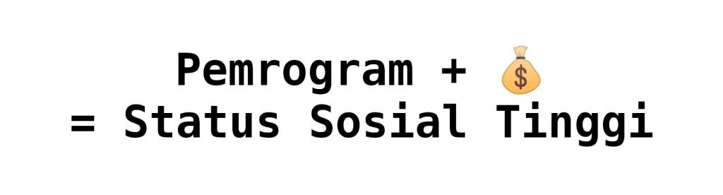 Pemrogram + 💰 = Status Sosial Tinggi