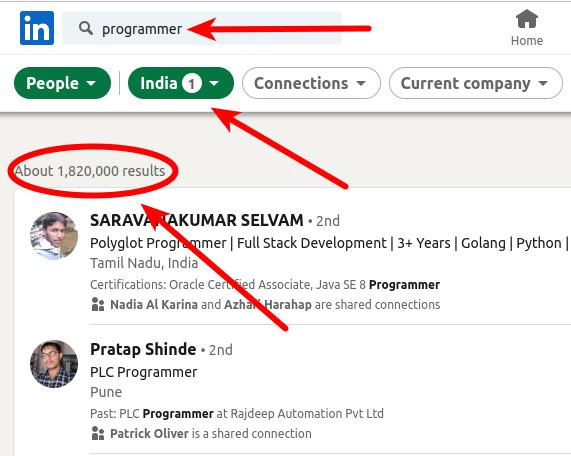 1,8 juta Programmer India di Linkedin