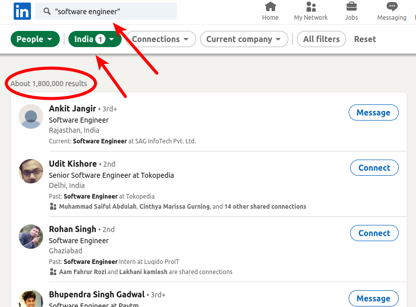 1,8 juta software enginer India